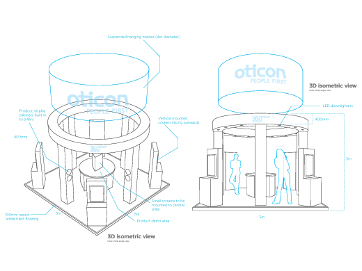 Exhibition Stand Drawing : About us h2 events
